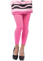 Tickle Me Pink Crayon Leggings